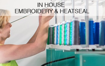 "<h3>In House Embroidery & Heatseal</h3><p>In house embroidery and Heatseal offers the ultimate in garment decoration, with the benefit of quality control and a speedy service. We use Tajima machines and Madeira threads - these are both the best available, while top quality components are applied by our expert technicians to provide attractive colourfast images that really last.</p><p class=""more-info"">MORE INFO</p>"