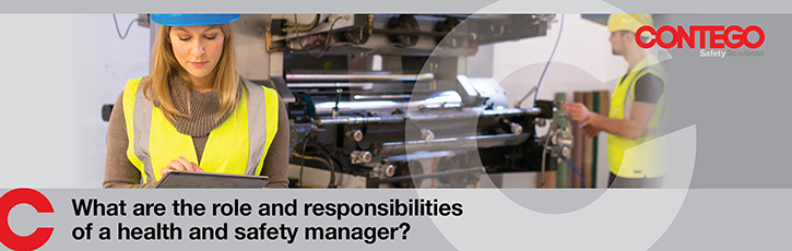 What are the role and responsibilities of a health and safety manager?