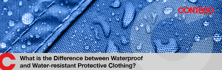 What is the difference between waterproof and water-resistant protective clothing?